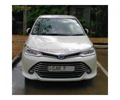 Rent 2016 Toyota Axio Hybrid Car Rs 4000 per day