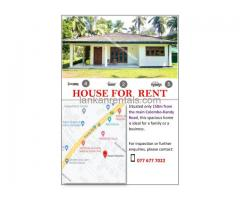 House for rent in yakkala