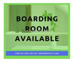 Available Boarding Room