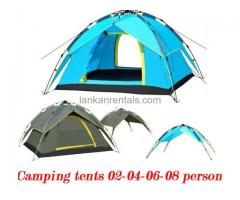 Camping Tents and Gears Rent