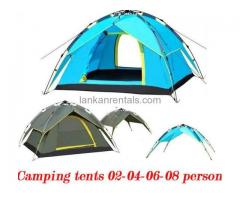 CAMPING TENTS AND CAMPING GEARS RENT