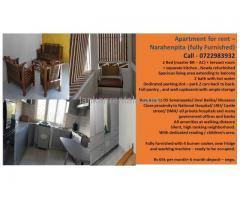 Apartment for rent – Narahenpita (fully Furnished)