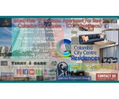 Colombo City Center Brand New 2 Bedroom Apartment For Rent in Colombo-2 CCC Residence Timmy ì care.