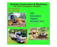 Ravindu Construction & Machinery- Excavator for hire in Gampaha